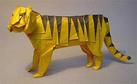 Origami Tiger Diagram - origami tiger
