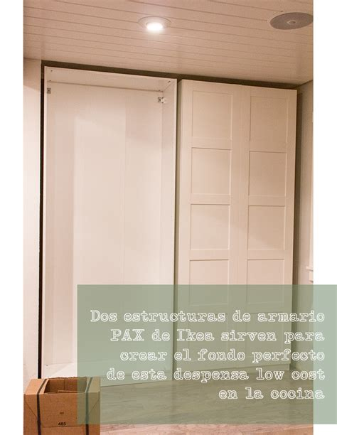 gran armario dentro de la cocina cocina armario pax armarios  cocinas