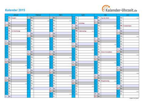 Kalender 2015 Ausdrucken Kalender 2015 Mit Feiertagen