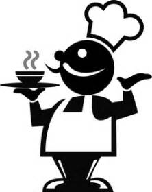 fine dining clipart image chef holding a serving tray of food he prepared