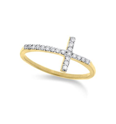 Crossed Ring kc designs 14k yellow gold small cross ring