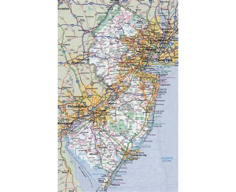 road map new jersey usa maps of new jersey state collection of detailed maps of