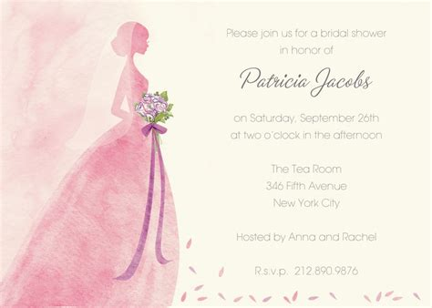 Bridal Shower Invitation Templates Bridal Shower Bridal Shower Invitation Template Free