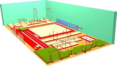 Crossfit Gym Floor Plan cr 233 er votre salle de gymnastique en 3d gymnova