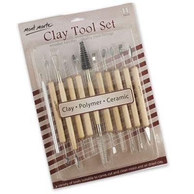 Mont Marte Clay Tool Set Modeling Clay Tools 11 Pcs supplies from nuart depot ltd materials