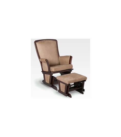 upholstered glider chair with ottoman delta upholstered glider ottoman black cherry espresso