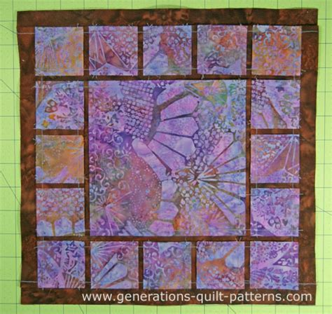dewey quilt block block in three sizes
