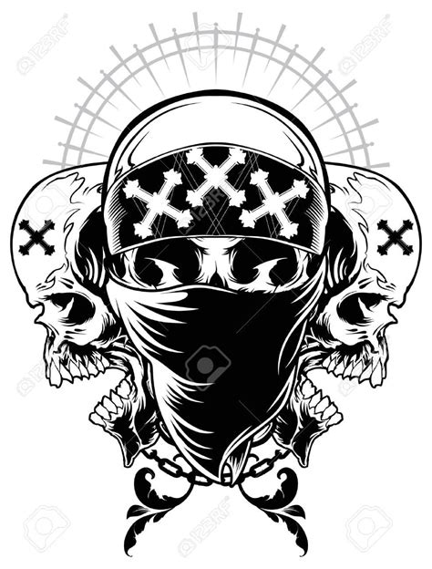three skull tattoo designs 36 gangster skull tattoos