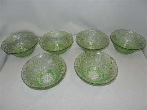 Sandwich Glass Ls by Vintage Tiara Indiana Sandwich Glass Chantilly Green Salad