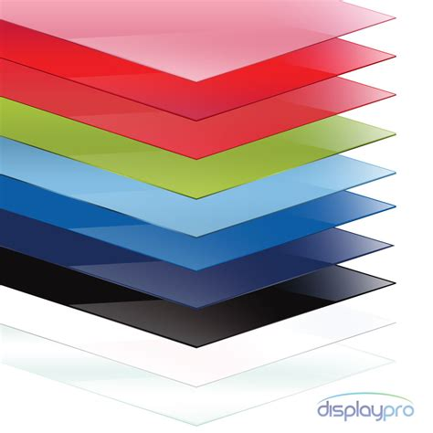 Acrylic A4 colour perspex acrylic sheet plastic material panel cut to