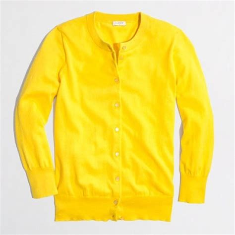 Yellow Sweater 18 j crew sweaters j crew bright tropical yellow clare cardigan from pilar s closet on