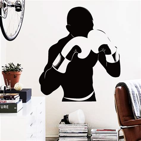 boxing wallpaper for bedrooms home furnishing decorative exclusive direct wall sticker sports style boxing athlete