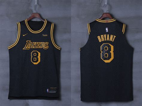Jersey Authentic Nike Bryant Lakers Black Nba Stitched Jersey Sz new lakers 8 bryant black city edition nike authentic jersey cheap sale