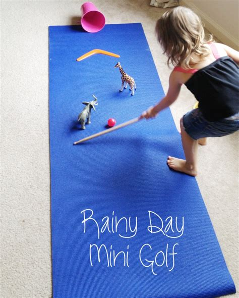 Make Your Own Golf Mat by Rainy Day Idea Diy Indoor Mini Golf Course For