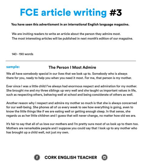 fce writing sles and essay exles myenglishteacher eu