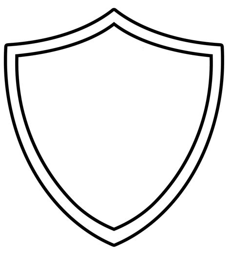 Shield Drawing Template by Yw In Excellence A Tipsy