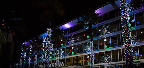 light up ucf schedule snow comes down at annual light up ucf attraction blogs