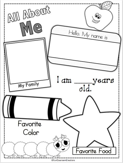 preschool coloring pages all about me all about me page madebyteachers