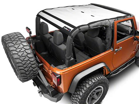 jeep safari white j tops usa wrangler safari mesh white jk saf solid white