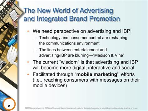 advertising and integrated brand promotion books ppt 169 2012 cengage learning all rights reserved may not