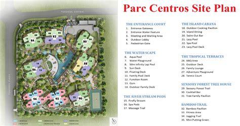 site floor plan parc centros floor plans