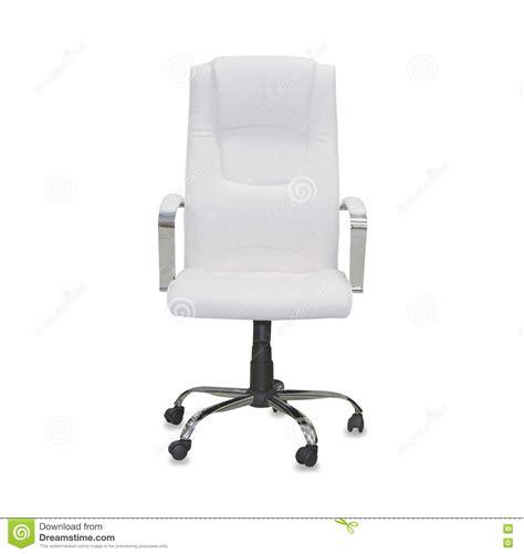 dell ufficio sedia dell ufficio da cuoio bianco fotografia stock