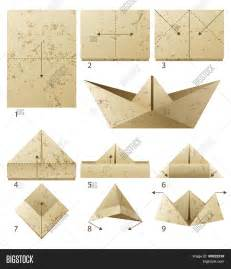 How To Make Paper Boat - 9 steps how make paper vector photo bigstock