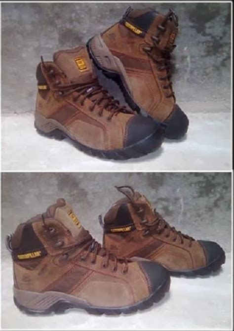Sepatu Boots Caterpillar Bishop Steel Toe Brown Safety Ujung Besi toko peralatan adventure caterpillar mens argon composite toe
