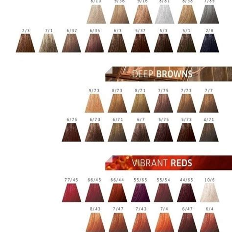 wella hair color chart wella touch colour chart color touch hair colour wella