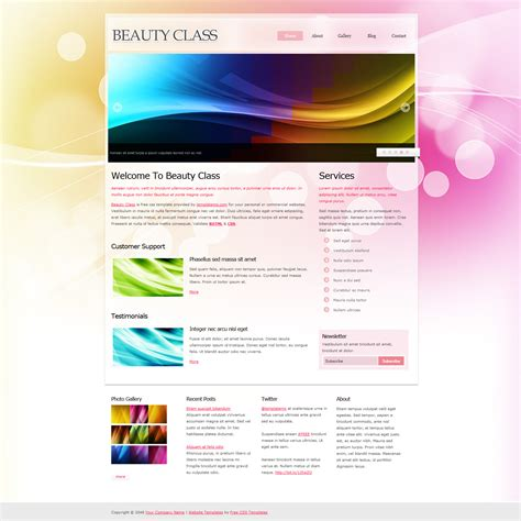 templates for website with slider template 353 beauty class