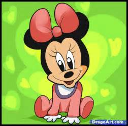 pics photos draw baby minnie mouse step 6
