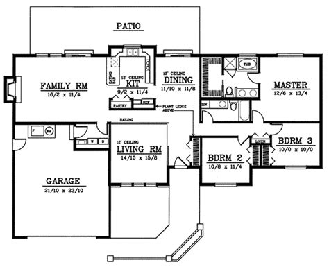 thayer modern ranch home plan 015d 0166 house plans and more