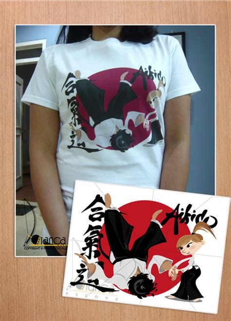 Kaos Akaido aikido t shirt by vectorbending on deviantart