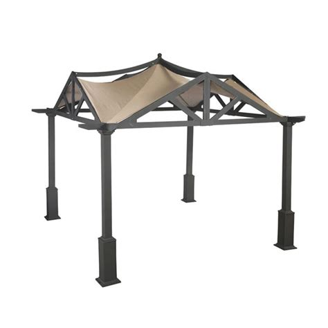 pergola canopy replacement lowes garden treasures 10 x 10 pergola replacement canopy gf 9a037x 69396 garden winds