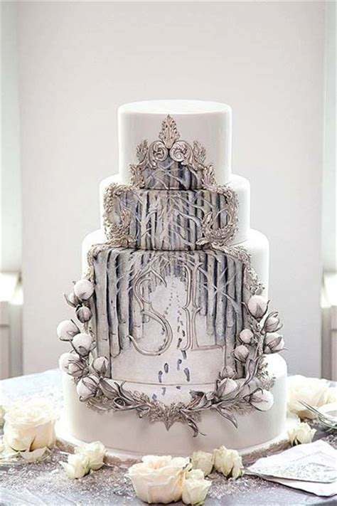 Winter Wedding Cakes by Winter Wedding Cakes Inspiration
