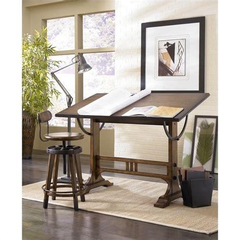 desktop drafting table hammary studio home architect drafting desk oak drawing table ebay