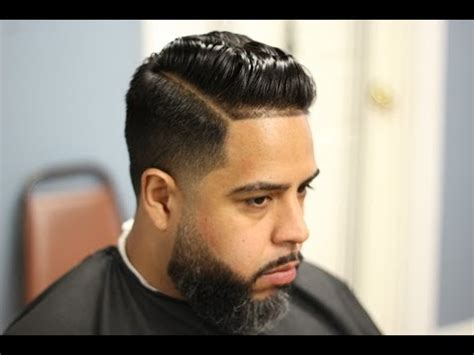 how to do a combover for black guys comb over pomp tapered with hard part youtube