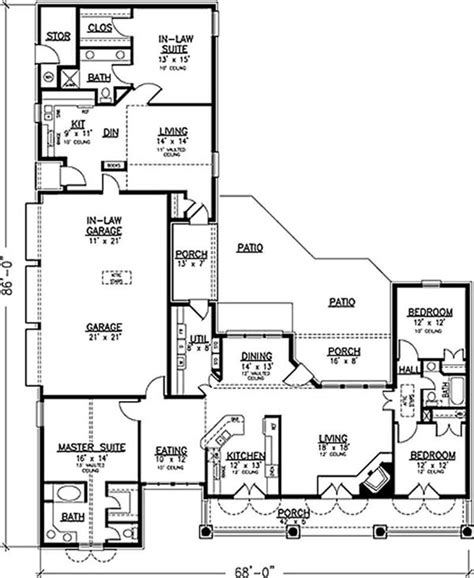 floor plans with inlaw apartment southern country house plans home design 20944