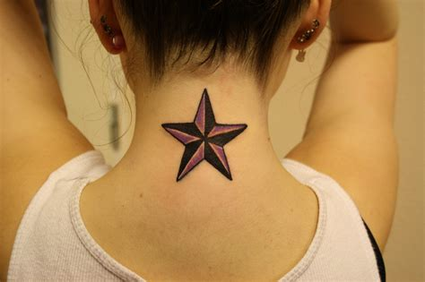 star tattoo on neck design sailor and nautical tattoos designs ideas and meaning