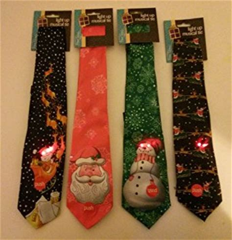 christmas musical and flashing light up tie green tie