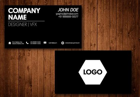 black card template black business card vector template free vector