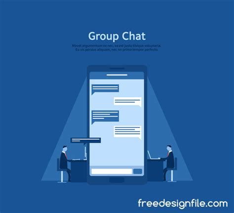 wallpaper group chat people talk free vector art free downloads
