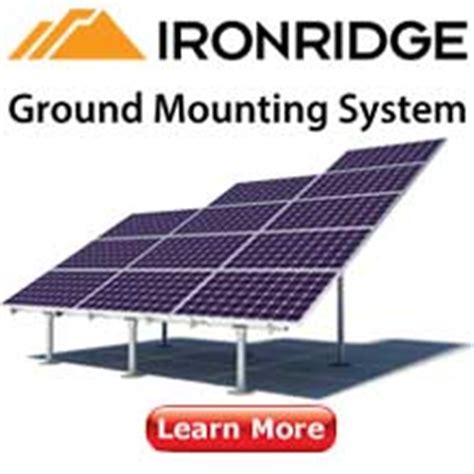 Iron Ridge Solar Racking by Solar Racking Mounts Ironridge Snapnrack Dpw