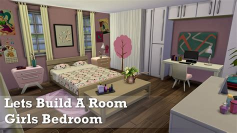 Cool Bedroom Ideas For Guys by The Sims 4 Room Build Girls Bedroom Youtube