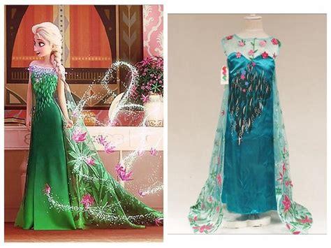 Dress Elsa New T1310 frozen fever new elsa dresses 2015 elsa costume flower print dress lace dress