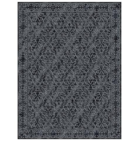 4x6 wool rug calandra black knotted tibetan wool rug 4x6 kathy kuo home