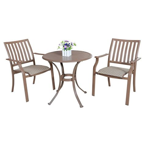 3 patio dining set shop hospitality rattan panama 3 aluminum