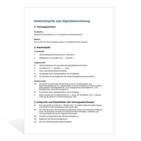 Muster Angebot Kauf Immobilie Kaufvertrag F 252 R Eine Eigentumswohnung