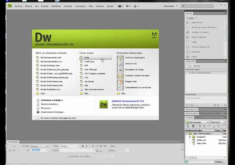 tutorial dreamweaver cs5 tutorial adobe dreamweaver cap 1 crearsitio avi youtube