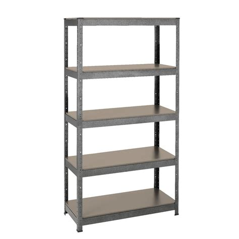 heavy duty 5 mdf shelf storage unit ebay